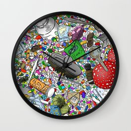 Addicted Wall Clock
