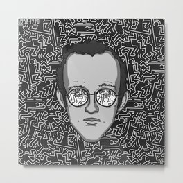 Keith Haring - Tribute Metal Print
