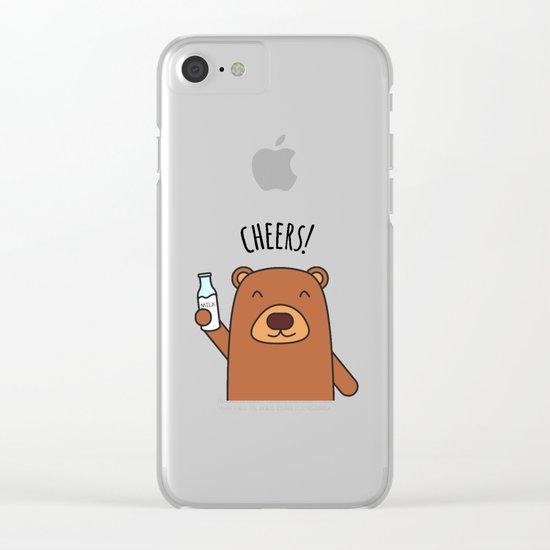 Cheers, Bear! Clear iPhone Case