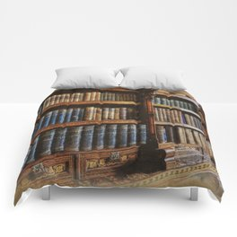 Knowledge - Antique Books on History & Law Comforters
