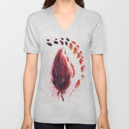 Red Feather Unisex V-Neck