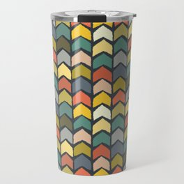 baby ikat arrows charcoal Travel Mug