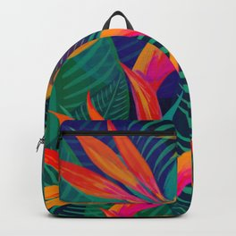 Tropical Bird of Paradise Flowers Backpack