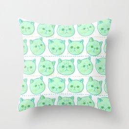Exotic shorthair cat pattern Throw Pillow