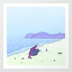 Beach Notes Art Print