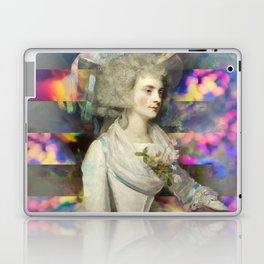 Woman in White Laptop & iPad Skin