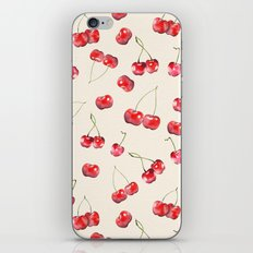 Cherry Pattern iPhone Skin