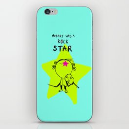 MOZART WAS A ROCK STAR (BLUE) iPhone Skin