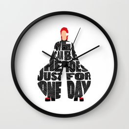 Typography Art of David Bowie the Starman Wall Clock
