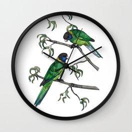 Ringneck Parrots Wall Clock