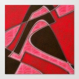 Red Denim Sampler Canvas Print