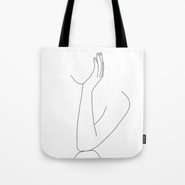 Female figure line drawing illustration - Dona Tote Bag