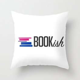 Bisexual, Bookish, and Proud Throw Pillow
