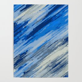 blue grey and dark blue painting abstract background Poster