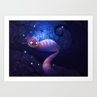 cheshire cat Art Prints featuring Cheshire Cat by Chelsea Kenna