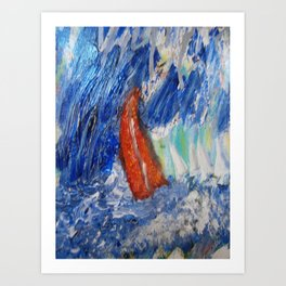 "Bible, ""Peter...in the Storm"" Art Print"