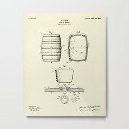 Keg or Barrel-1898 Metal Print