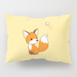 Cute Little Fox Watching Butterly Pillow Sham