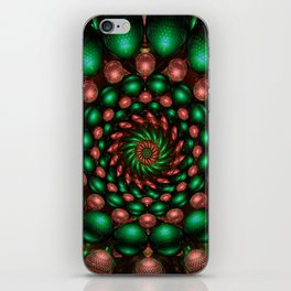 Copper Emerald Twirled iPhone Skin
