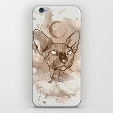 Watercolor Sphynx (Sepia/Coffee stain) iPhone & iPod Skin