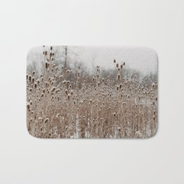 The Snow In The Meadow Bath Mat