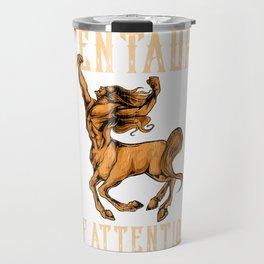 Funny Centaur of Attention Pun Greek Mythology Pun Travel Mug
