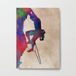 mountaineer climbing sport art #mountaineer #climbing #sport Metal Print