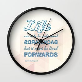 Live Forwards Wall Clock