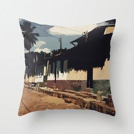 Brazil Street Throw Pillow