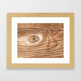 Wood Grain Knothole Framed Art Print