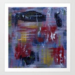 Abstract Purple Painting Art Print