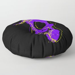 Skull - Purple Floor Pillow