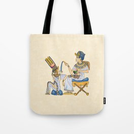 King Tut and Queen Ankhesenamun Tote Bag