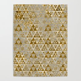 Triangles Sacred Geometry Pattern Poster