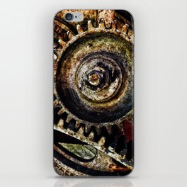 Grungy Gears iPhone Skin