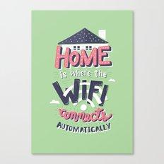 Home Wifi Canvas Print