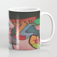 faces Mugs featuring faces by loomy