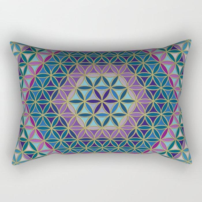 Flower of Life variation #3 Rectangular Pillow