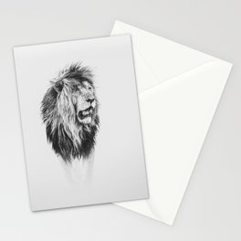 Scar, the famous African lion - black and white Stationery Cards