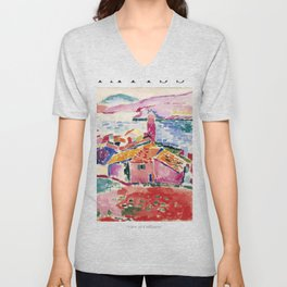 View of Collioure - Henri Matisse - Exhibition Poster Unisex V-Neck