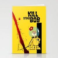 spongebob Stationery Cards featuring Kill Spongebob by thunderbloke!