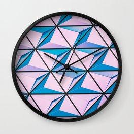 Pattern blue purple Wall Clock