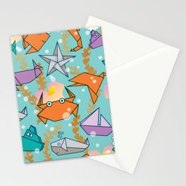 Origami Ocean Stationery Cards
