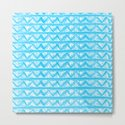 Simple Geometric Zig Zag Pattern- White on Teal -Mix & Match with Simplicity of life by simplicity_of_live