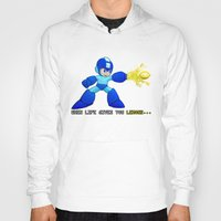mega man Hoodies featuring Mega Man Lemons by RetroGamerJay