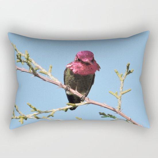 Mr. Anna's Hummingbird in Ideal Light Rectangular Pillow