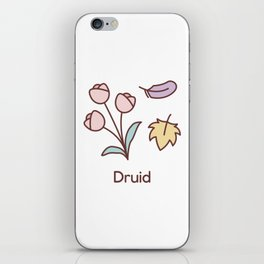 Cute Dungeons and Dragons Druid class iPhone Skin