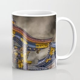 The Main Gate at Nijo Castle Abstract Coffee Mug