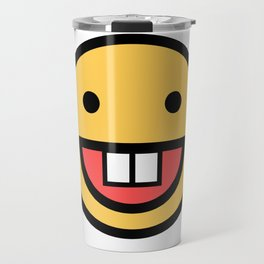 Smiley Face   Big Tooth Out   Smiling Teeth Mouth Travel Mug