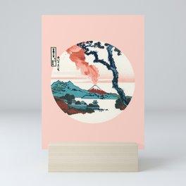Hokusai View Of Mount Fuji With Eruption Mini Art Print